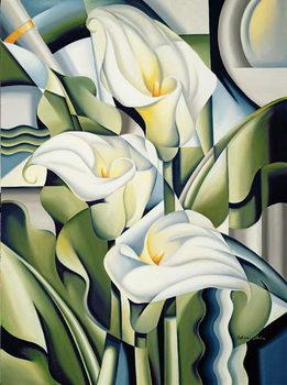 Reprodução do quadro Cubist Lilies