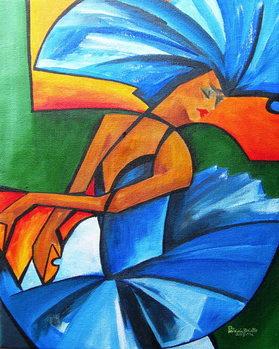 Reprodução do quadro  Dance in blue, 2008