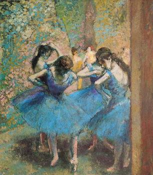 Reprodução do quadro  Dancers in blue, 1890