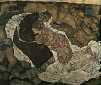 Reprodução do quadro  Death and the Maiden , 1915