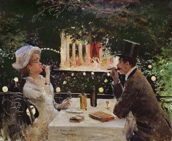 Reprodução do quadro  Dinner at Les Ambassadeurs, c.1882