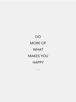 Ilustração do more of what makes you happy