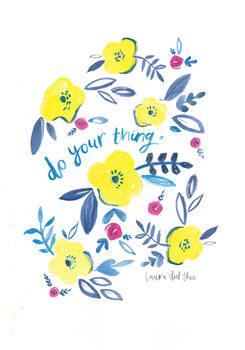 Ilustração Do your thing floral