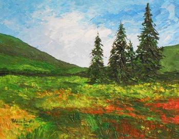 Reprodução do quadro  Down the valley, 2012