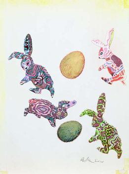 Reprodução do quadro Easter Rabbits