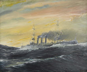 Reprodução do quadro Emden rides waves of the Indian Ocean 1914, 2011,