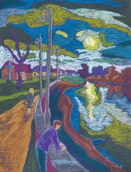 Reprodução do quadro  Encouter by Setting Sun, 2008