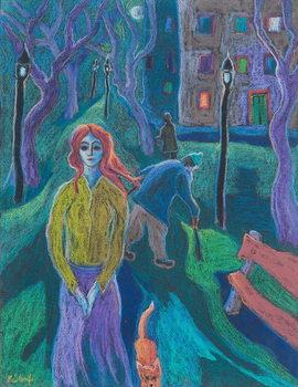 Reprodução do quadro Evening Walk, 2005