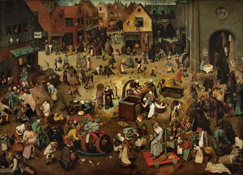 Reprodução do quadro Fight between Carnival and Lent, 1559