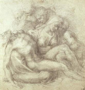 Reprodução do quadro  Figures Study for the Lamentation Over the Dead Christ, 1530
