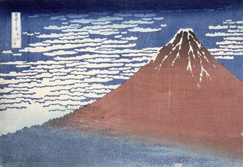 Reprodução do quadro Fine weather with South wind, from 'Fugaku sanjurokkei' (Thirty-Six Views of Mount Fuji) c.1831