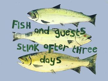 Reprodução do quadro Fish & guests ,2018