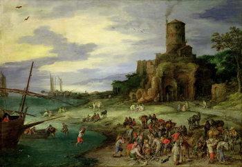 Reprodução do quadro  Fishermen on the Shore
