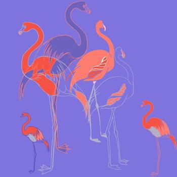 Reprodução do quadro Flamingoes