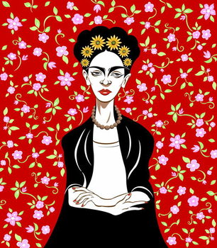 Reprodução do quadro Frida Kahlo, 2018
