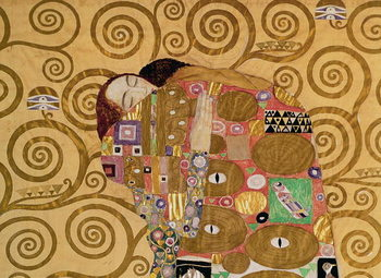 Reprodução do quadro  Fulfilment (Stoclet Frieze) c.1905-09 (tempera, w/c)