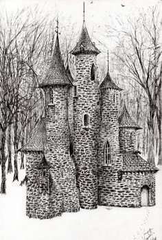 Reprodução do quadro  Gatehouse of The Castle in the forest of Findhorn, 2006,