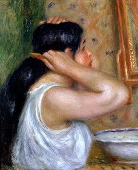 Reprodução do quadro Girl Combing her Hair, 1907-8