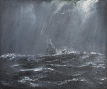 Reprodução do quadro  Gneisenau in a Storm North Sea 1940, 2006,