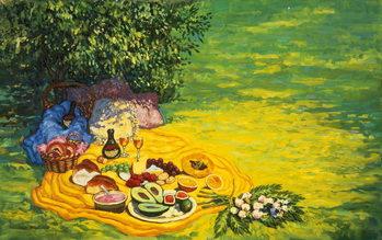 Reprodução do quadro  Golden Picnic, 1986