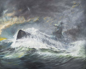 Reprodução do quadro  Graf Spee enters the Indian Ocean 3rd November 1939, 2006,