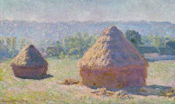 Reprodução do quadro  Grainstacks at the end of the Summer, Morning effect, 1891