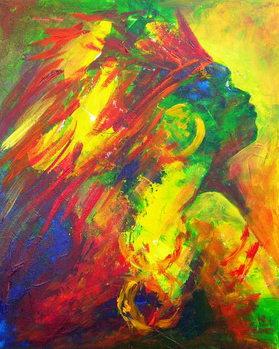 Reprodução do quadro  Guatiguana the Taino, 2011