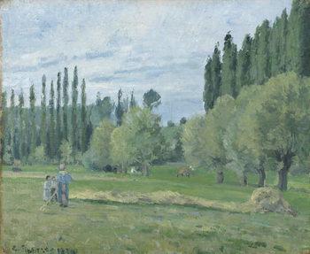 Reprodução do quadro  Haymaking, 1874