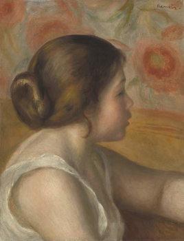 Reprodução do quadro Head of a Young Girl, c.1890