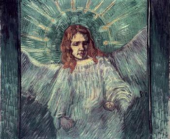Reprodução do quadro  Head of an Angel, after Rembrandt, 1889