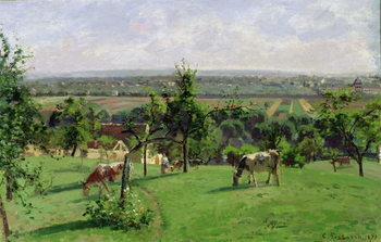 Reprodução do quadro  Hillside of Vesinet, Yvelines, 1871