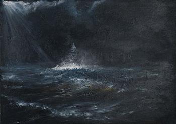 Reprodução do quadro  HMS Duke of York 1943, 2014,