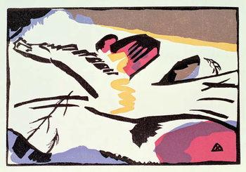 Reprodução do quadro  Horse, from 'Der Blaue Reiter', 1911
