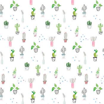 Ilustração Houseplants and cacti