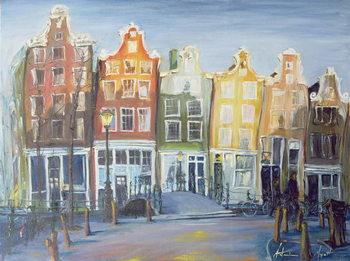 Reprodução do quadro  Houses of Amsterdam, 1999