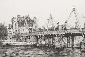Reprodução do quadro Hungerford Bridge London, 2006,