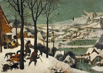 Reprodução do quadro  Hunters in the Snow (Winter), 1565