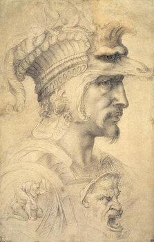 Reprodução do quadro Ideal head of a warrior
