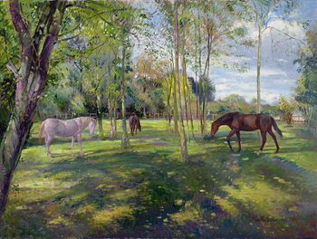 Reprodução do quadro  In the Rectory Paddock, 1993