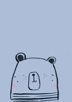 Ilustração Inky line polar bear