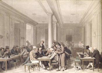 Reprodução do quadro  Interior of a Parisian Cafe, c.1815