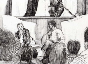Reprodução do quadro Interview at Hay on Wye, 2007,