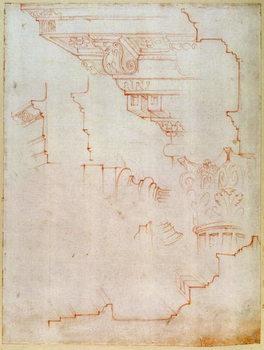 Reprodução do quadro  Inv. 1859 6-25-560/2. R. (W.19) Drawing of architectural details