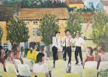 Reprodução do quadro  Italien Performers, Laignes, France. 2006,