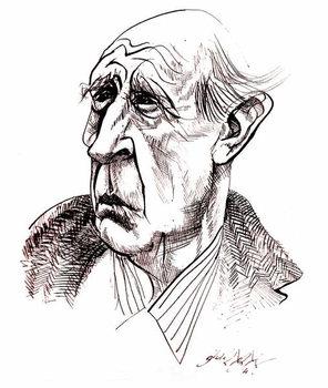 Reprodução do quadro J R R  Tolkien