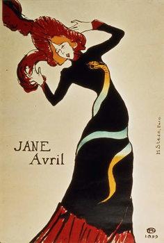 Reprodução do quadro Jane Avril (1868-1943) 1899