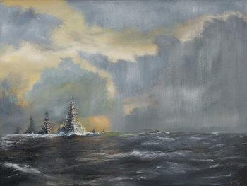 Reprodução do quadro  Japanese fleet in Pacific 1942, 2013,