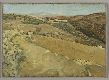Reprodução do quadro  Jerusalem and Siloam, South Side, illustration from 'The Life of Our Lord Jesus Christ'