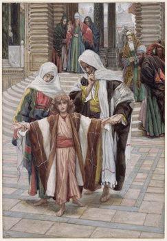 Reprodução do quadro  Jesus Found in the Temple, illustration for 'The Life of Christ', c.1886-94