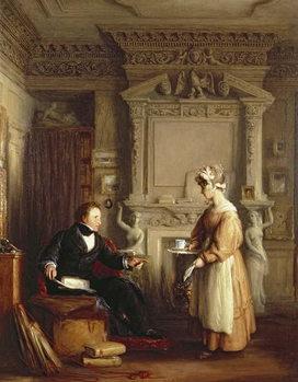 Reprodução do quadro John Sheepshanks and his maid